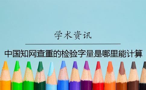 中国知网查重的检验字量是哪里能计算的?